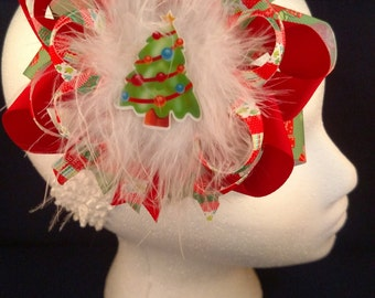 Christmas Tree Over-The-Top Hair Bow Hairbow