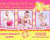 Sunshine invitation You are My Sunshine invite Sun invite  1st Birthday Girl invitation 1st birthday Girl invite 3 Photos 3 picture