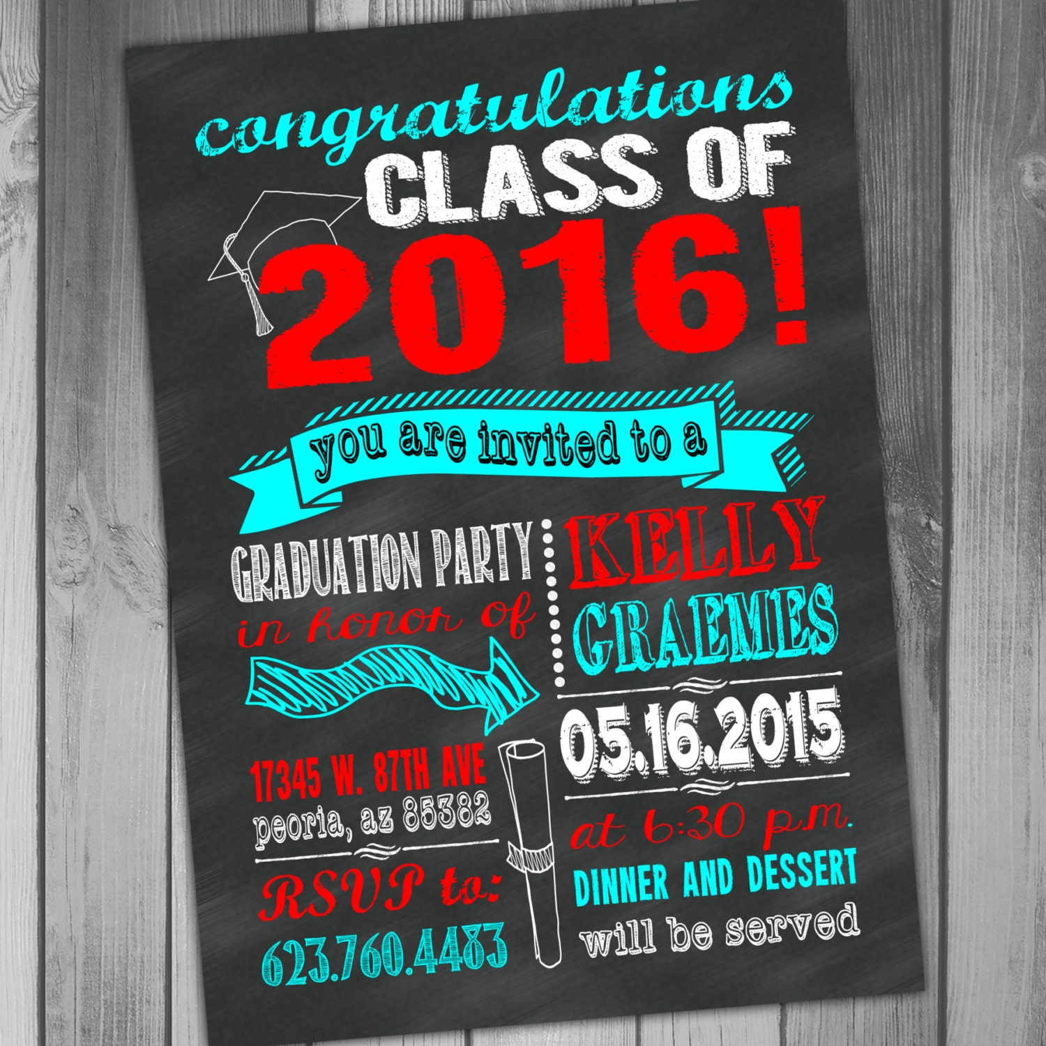 graduation invitation chalkboard graduation party high school, invitation samples