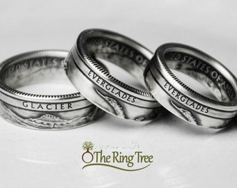 Silver National Park Quarter - Coin Ring - SILVER (.900)