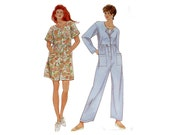 Jumpsuit Pattern Simplicity 9476 Nineties Culottes Jumpsuit In Two Lengths Skort One Piece Overalls