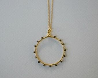 Wheel of Fortune Beaded Circle pendant