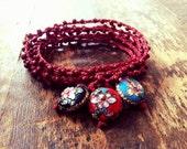 Zen Garden: Versatile crocheted necklace / bracelet / belt / headband