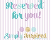 Reserved for Brooke 24 First Birthday Cupcake Toppers October 8th