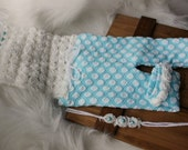 newborn photography prop-lux aqua blue roses romper set newborn 0-2 weeks, baby shower, newborn girl polka dots romper set, BABY photo prop