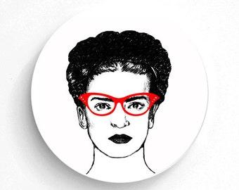 Melamine Plate Cat Eyes Frida Kahlo - Frida Kahlo - Melamine Plate - Frida Kahlo Art - Mexican Art Print - decorative plate - Dinner Plate