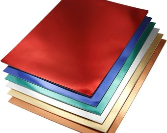 Metallic Card x 30 Sheets Double Sided A4 - Flexible Cut Make Shape - Red Blue Green Silver Copper Gold
