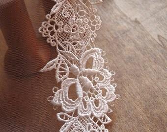 ivory guipure lace trim DG109b