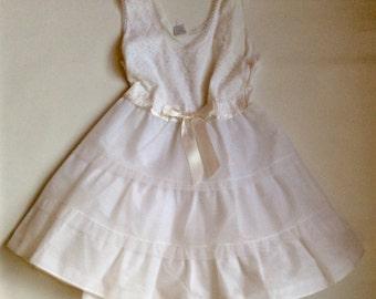 Vintage 1950s 60s Girls' Slip Crinoline Petticoat Size 6