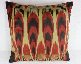 Cotton Ikat Pillow, Ikat Pillow Cover,  C124, Ikat throw pillows, Designer pillows, Decorative pillows, Accent pillows