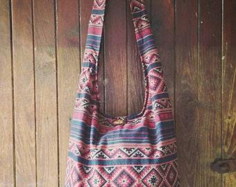 Unique Boho Messenger Print Bag/ Hippie Bag /Shoulder Bag / Crossbody Bag /Sling Bag / Bohemian Handbag