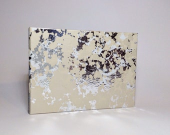 Cream and Silver Marbled Wedding Guest Book