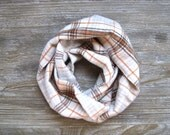 Child's Scarf, Fall Scarf, Plaid Toddler Scarf, Kid's Flannel Scarf, Children's Clothing, Unisex Child Scarf, Baby Bib Scarf, Ready To Ship