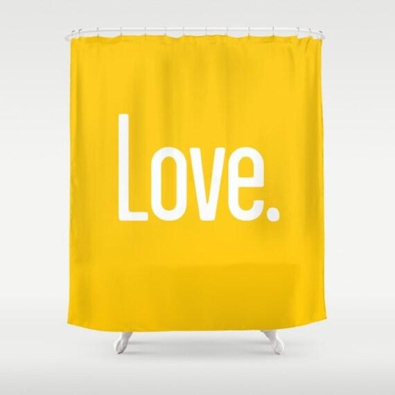 36 colours, LOVE PERIOD Quote Shower Curtain, Crocus yellow bathroom shower curtains, crocus yellow bathroom decor
