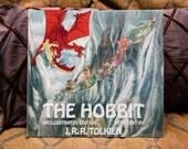 "Rare First Edition ""The Hobbit"" Illustrated 1977 | Hardcover w- Amazing Glassine Dust Jacket | JRR Tolkien | Gift for Fantasy Reader Gandalf"