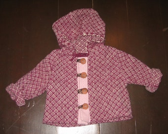 handwoven organic wool jacket for toddlers