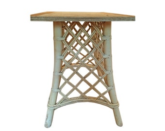 Vintage Rattan Table Base, Wicker Table