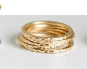 Holiday SALE 50% OFF Hammered ring GOLD