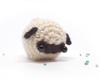 crochet pug amigurumi - cute dog plush