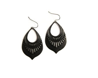 Black Tribal Earring