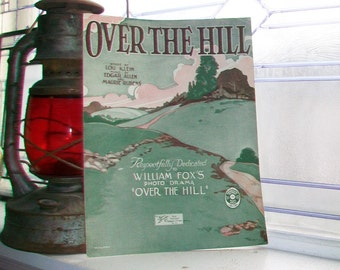 Vintage Sheet Music 1921 Over The Hill