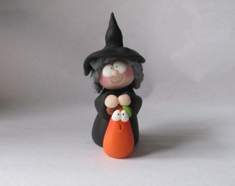 Polymer Clay Halloween Witch