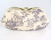 Cottage Chic Soft Eyeglass Case - Eye Glass Case - Sunglasses Case - Cute Glasses Case - Sunglass Case - Glasses Case Kiss Lock
