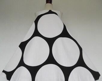 21% OFF :) LOUIS FERAUD . Mod Dot! . Incredible Bold Polka Dot Print Pure cotton Trapeze Midi 60s Dress S