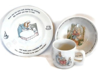 Wedgwood Peter Rabbit Child's Set, Three Piece