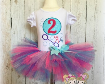 Birthday Bubbles Outfit - First Birthday Outfit girl - Baby tutu - Birthday tutu - tutu outfit - Custom embroidered outfit