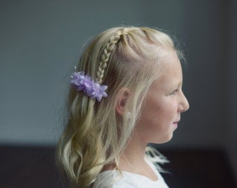 The Wood Anemone: Flower Girl Hair clip in lilac