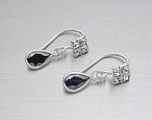 Rod plug earrings silver 925 Water drops