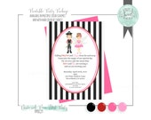 Pirates & Pixies Birthday Party DIY printable Jpeg/PDF 5 BY 7 invitation. Multiple color schemes and hair color of choice.