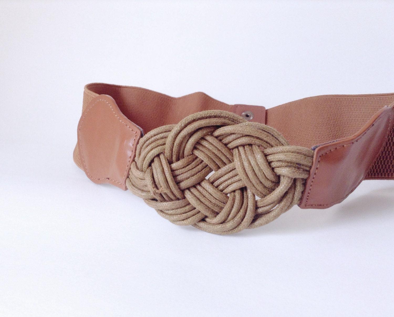 wide belt woven braided chunky buckle high waist