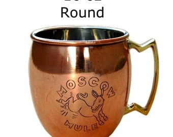 Moscow Mule Copper Cup 16 oz. Round