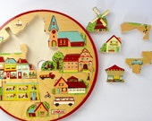 Vintage wooden puzzle toy Made in Holland