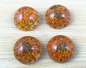 10pcs Wholesale Cabochons 18mm Round Dry Flower Resin Cabochon