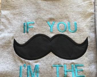Mom Mustache T Shirt