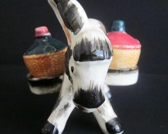 Vintage Donkey Salt & Pepper Shakers