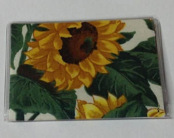 Sunflowers Handmade Debit Card Holder, Mother's day gift, Birthday gift, Mini Wallet, Credit card case, Business card holder
