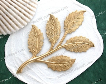 Leaves,Vintage Style,Supplies,Scrap booking,Collage,Craft Supplies,Jewelry Supplies,Made in USA,Wedding Supplies,Brass Leaves, STA-244