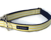The Beach Club Webbing Dog Collar with Metal Hardware
