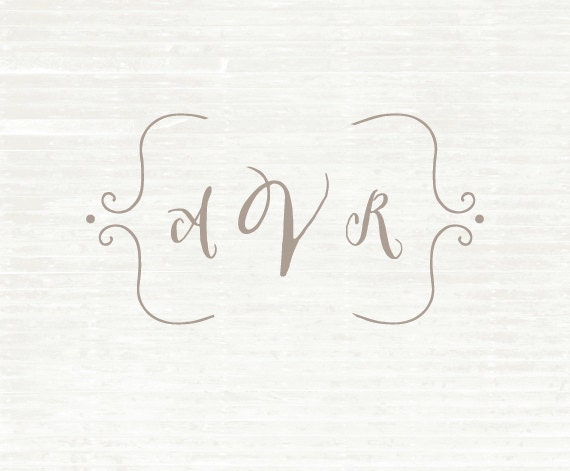 Monogram Stamp, Calligraphy Stamp, Custom Name, Wedding Napkins, Custom Rubber Stamp, Wedding, Save the Date, Bridesmaid Gift