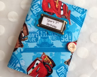 Photo Album Personalized Brag Book - Disney Cars Fabric-holds 48 Pictures