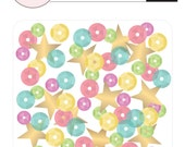 Pink Paislee Birthday Bash Sequins  -- MSRP 3.00