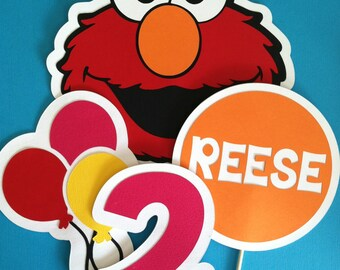 Elmo Sesame Street Inspired Birthday Centerpiece