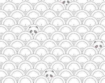 KNIT - Art Gallery Fabrics - Pandalicious by Katarina Roccella - Hidden Panda Cottonbud