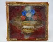 1800's  Mourning Memorial Shadow Box, Antique Flowers, Eternamente la Tuija