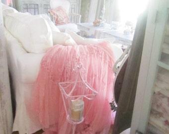 Vintage pink  candelabra shabby chic prairie cottage chic