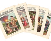1930s Concordia Leaflets Sunday School Lessons, Bible Journal Supply, Bible Story Lessons, Kids Bible Stories, Lot of 5, Bible Journaling